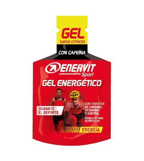 Gel energético con cafeína para deportistas - Enervit Sport